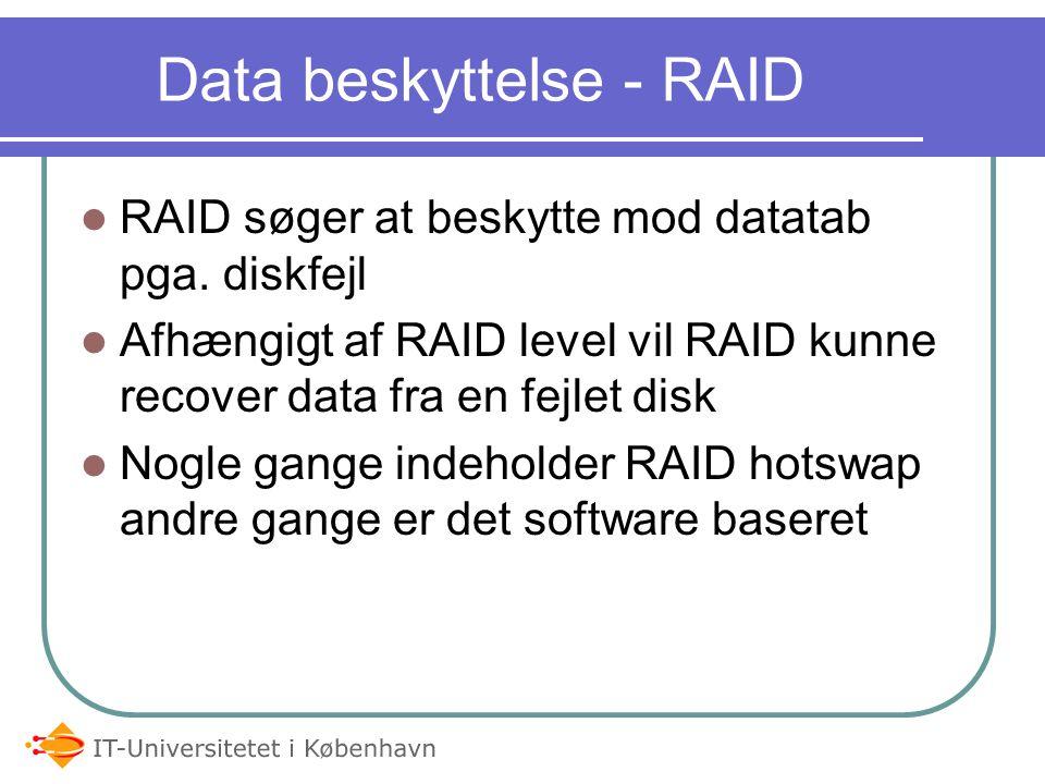 Data beskyttelse - RAID