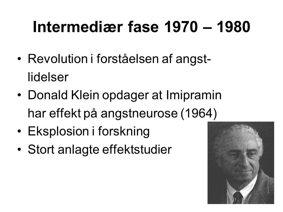 Intermediær fase 1970 – 1980 Revolution i forståelsen af angst-