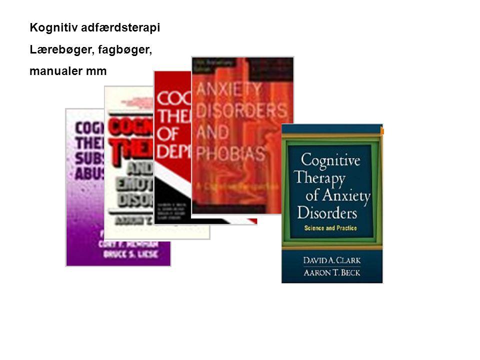 Kognitiv adfærdsterapi Lærebøger, fagbøger, manualer mm