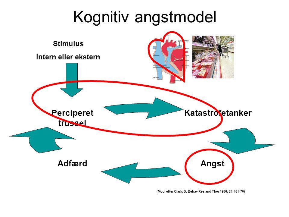 Kognitiv angstmodel Stimulus Intern eller ekstern