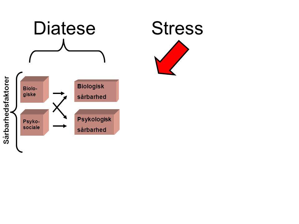Diatese Stress Sårbarhedsfaktorer Biologisk sårbarhed Psykologisk