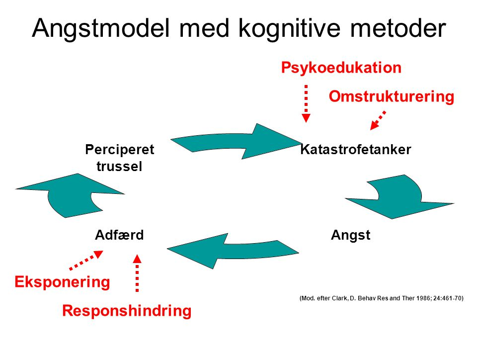 Angstmodel med kognitive metoder