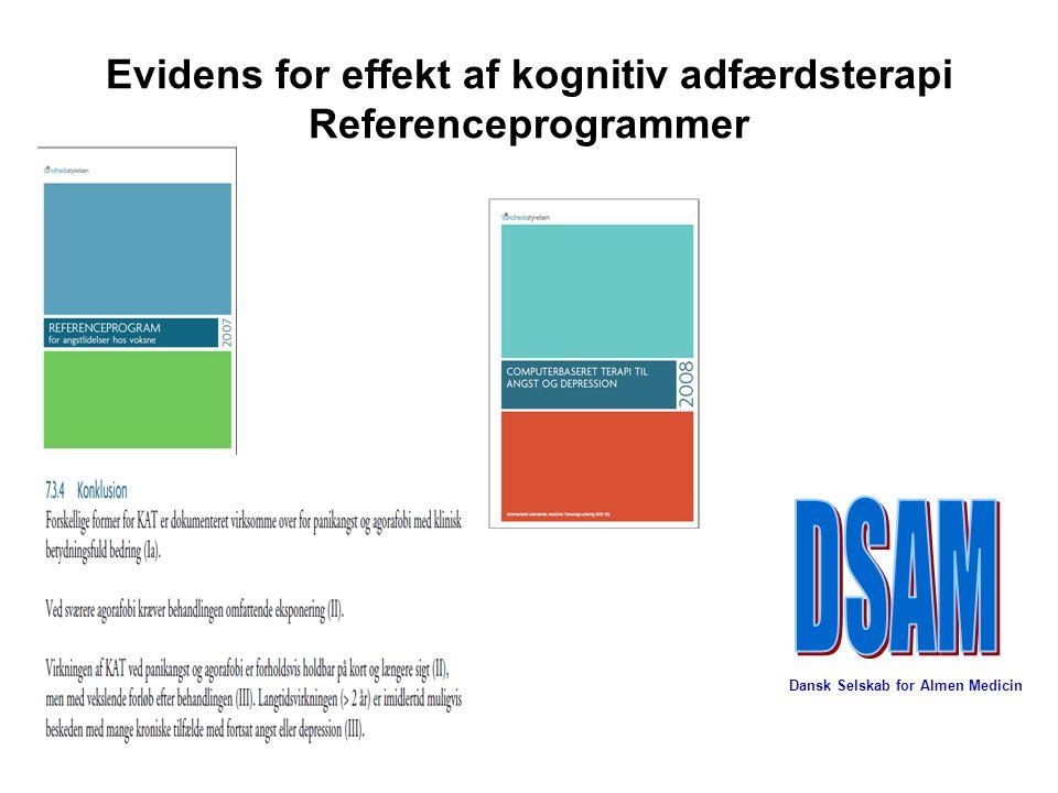 Evidens for effekt af kognitiv adfærdsterapi Referenceprogrammer