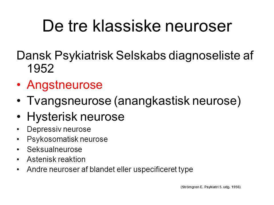 De tre klassiske neuroser