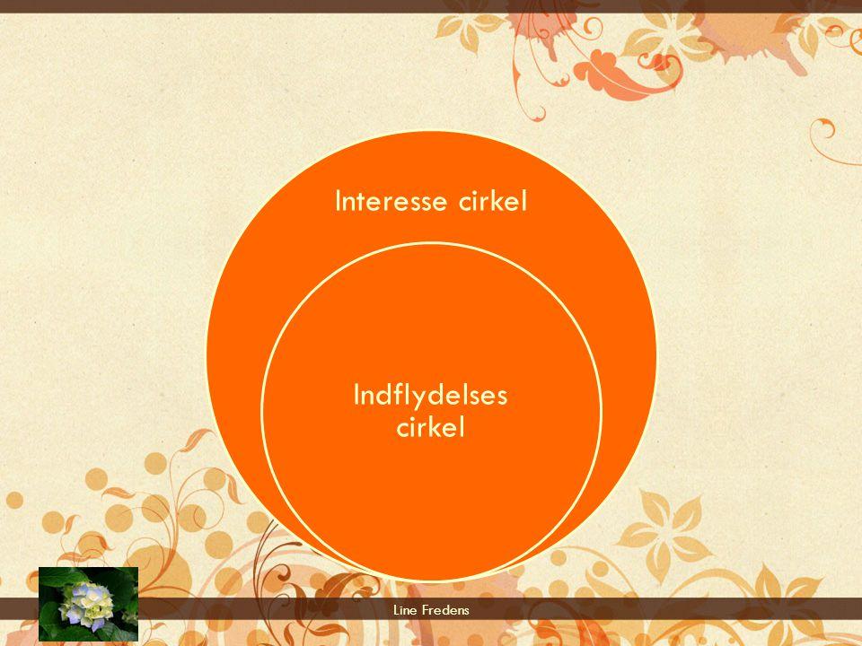 Interesse cirkel Indflydelses cirkel Line Fredens