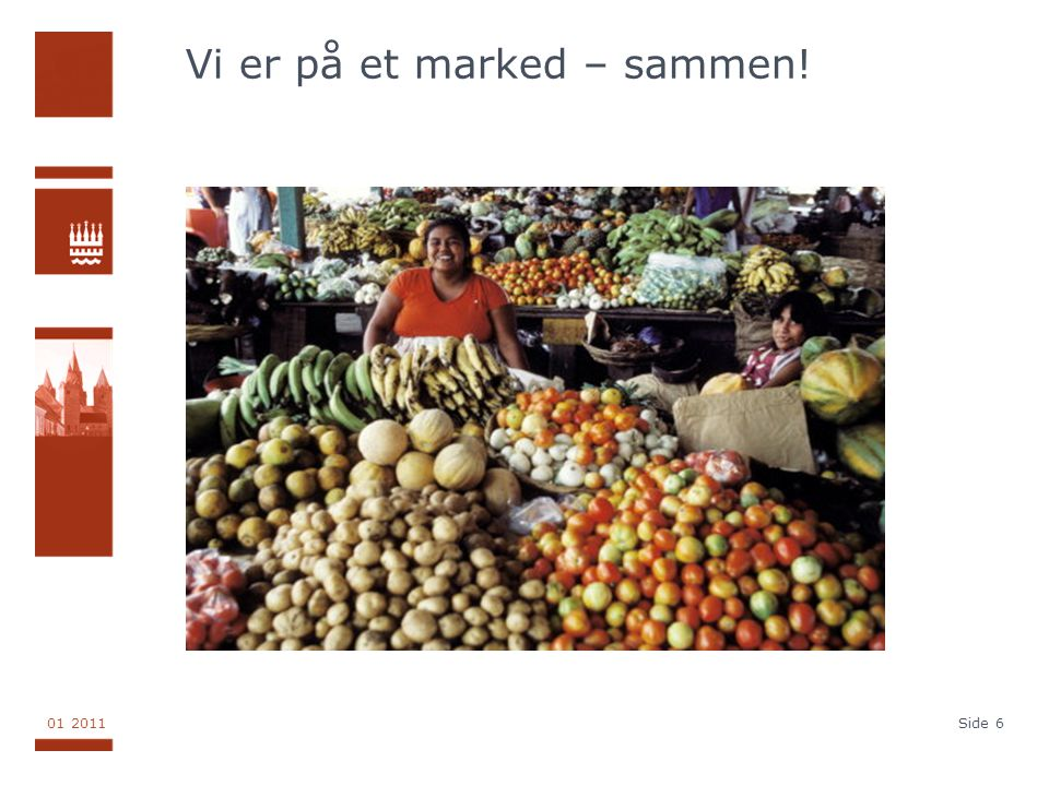 Vi er på et marked – sammen!