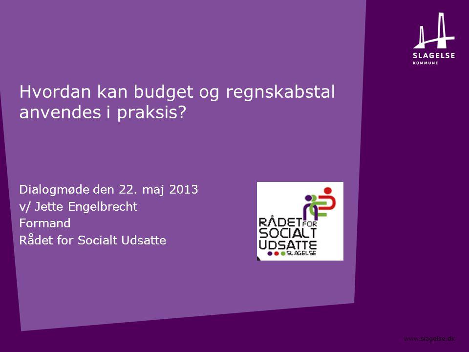Hvordan kan budget og regnskabstal anvendes i praksis