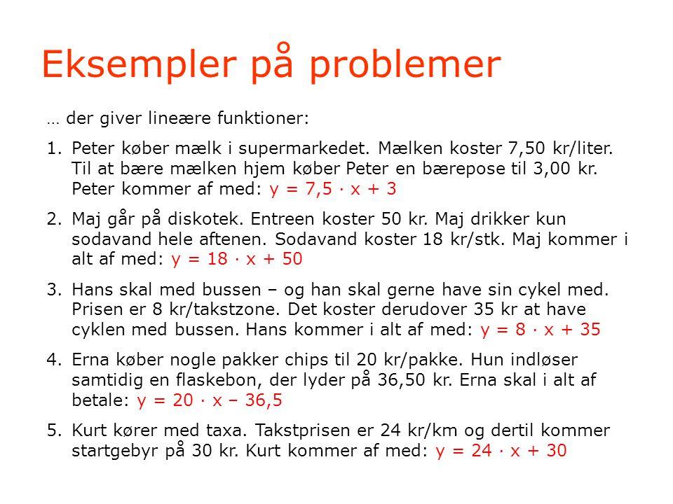 Eksempler på problemer