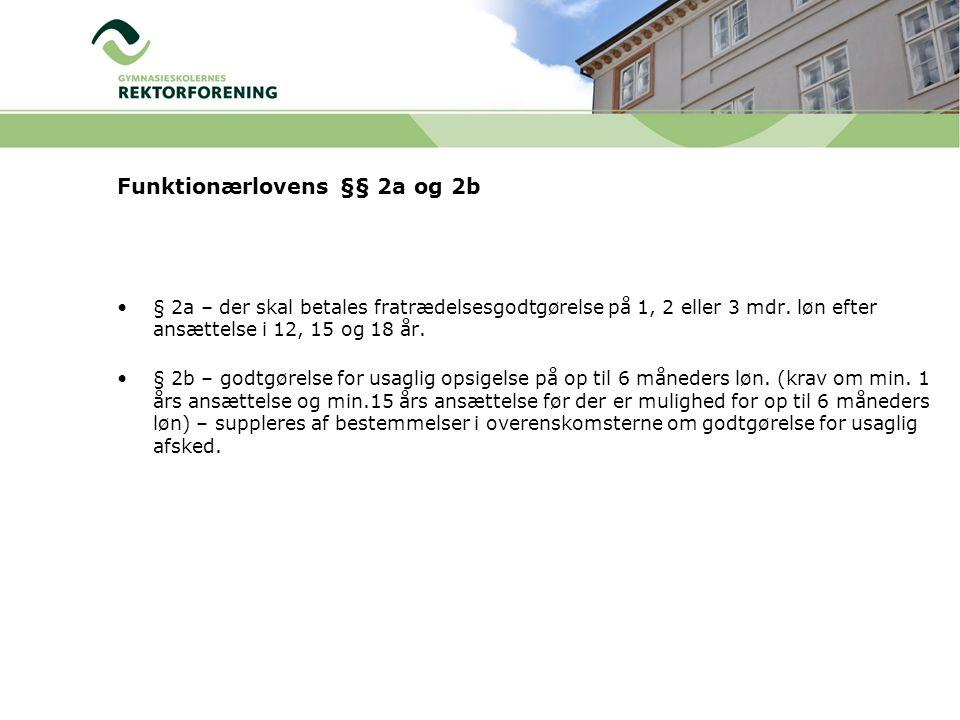 Funktionærlovens §§ 2a og 2b