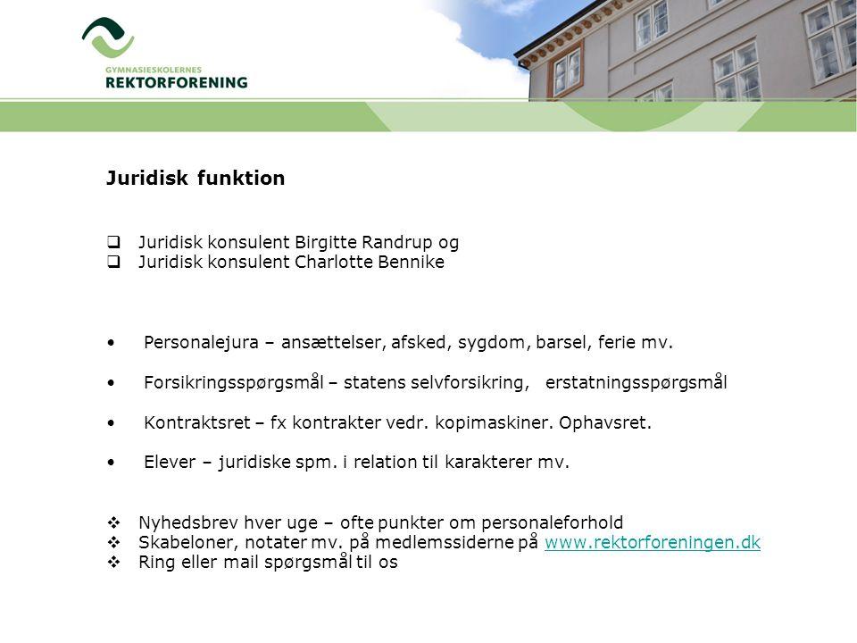 Juridisk funktion Juridisk konsulent Birgitte Randrup og