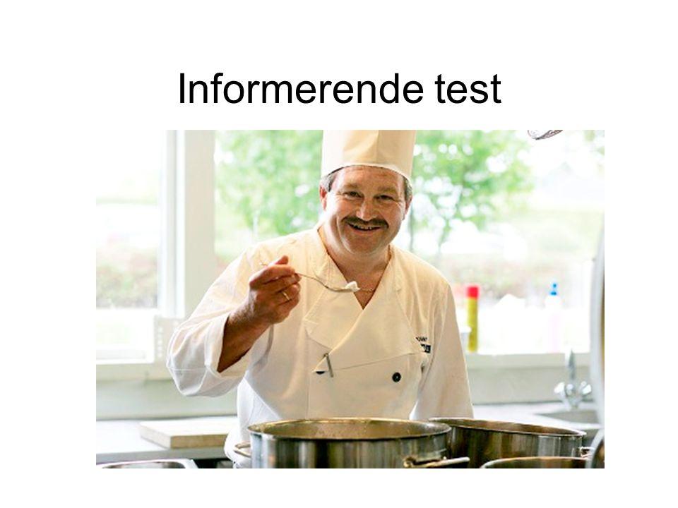 Informerende test