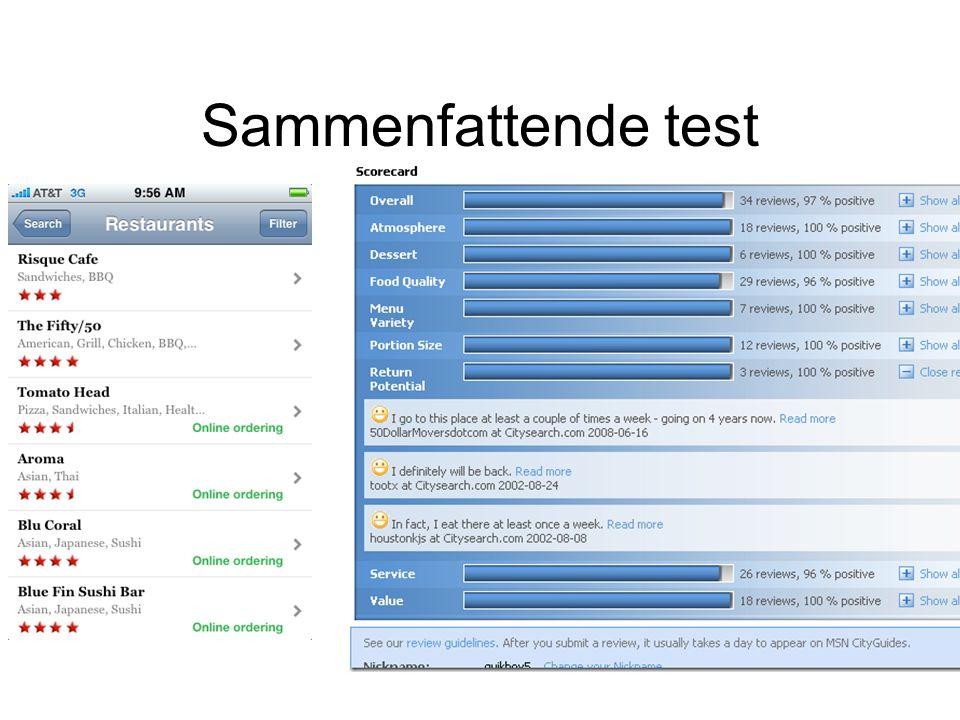 Sammenfattende test