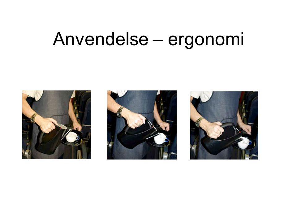 Anvendelse – ergonomi Affordance, usability, belastning, videnkabelig analyse