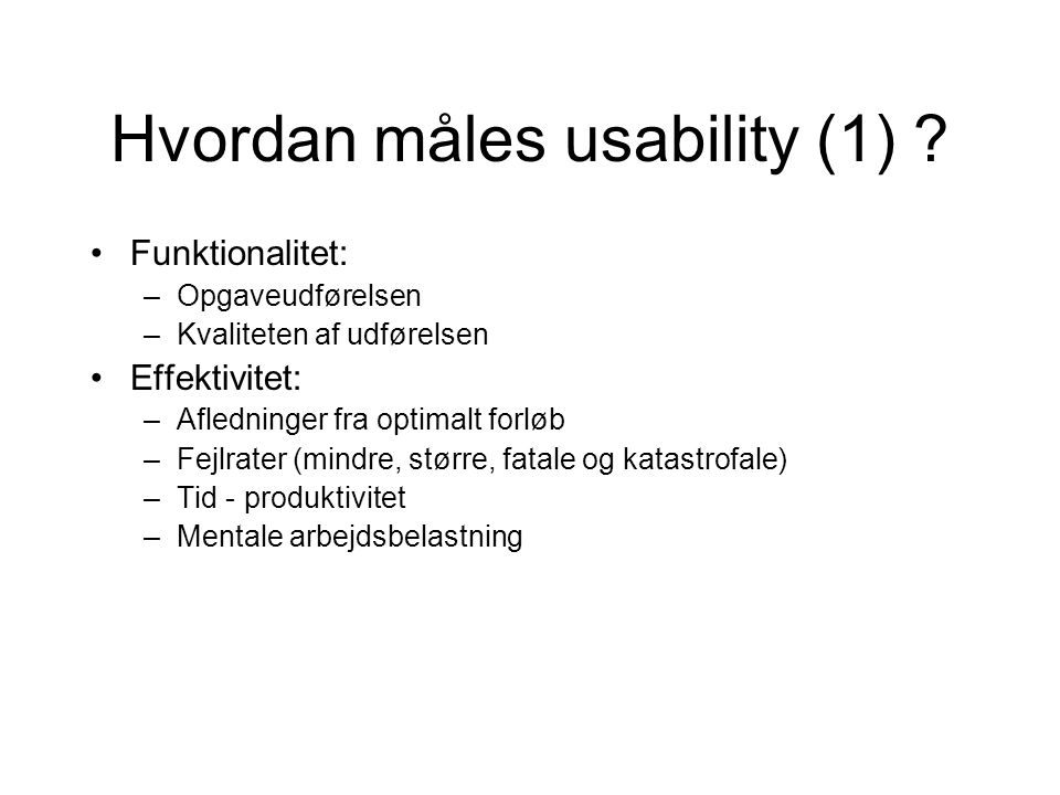 Hvordan måles usability (1)