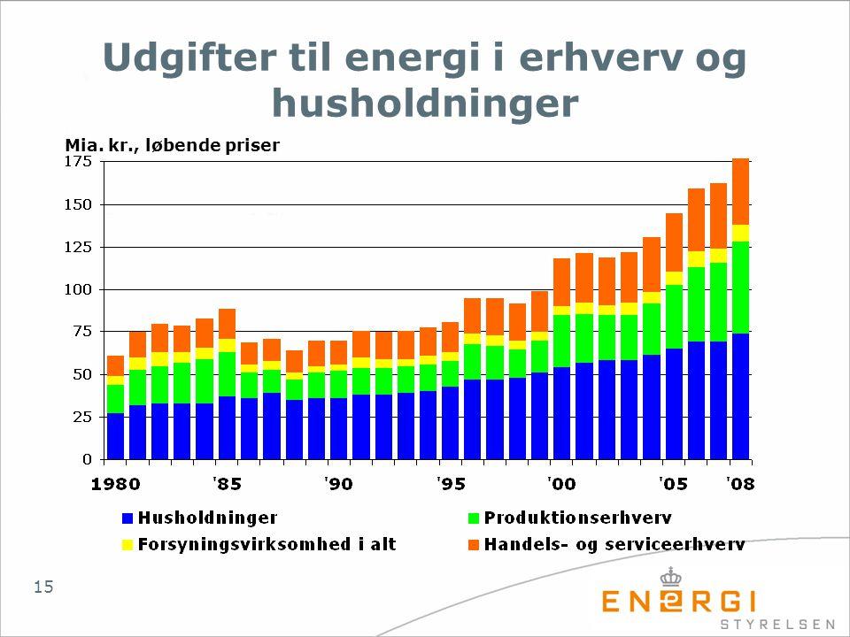 Udgifter til energi i erhverv og husholdninger