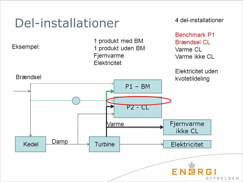 Del-installationer 4 del-installationer Benchmark P1 Brændsel CL
