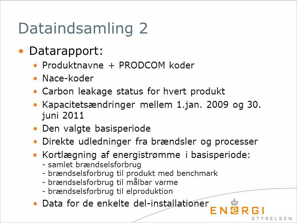 Dataindsamling 2 Datarapport: Produktnavne + PRODCOM koder Nace-koder