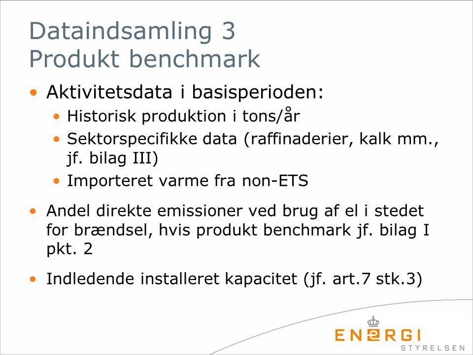 Dataindsamling 3 Produkt benchmark