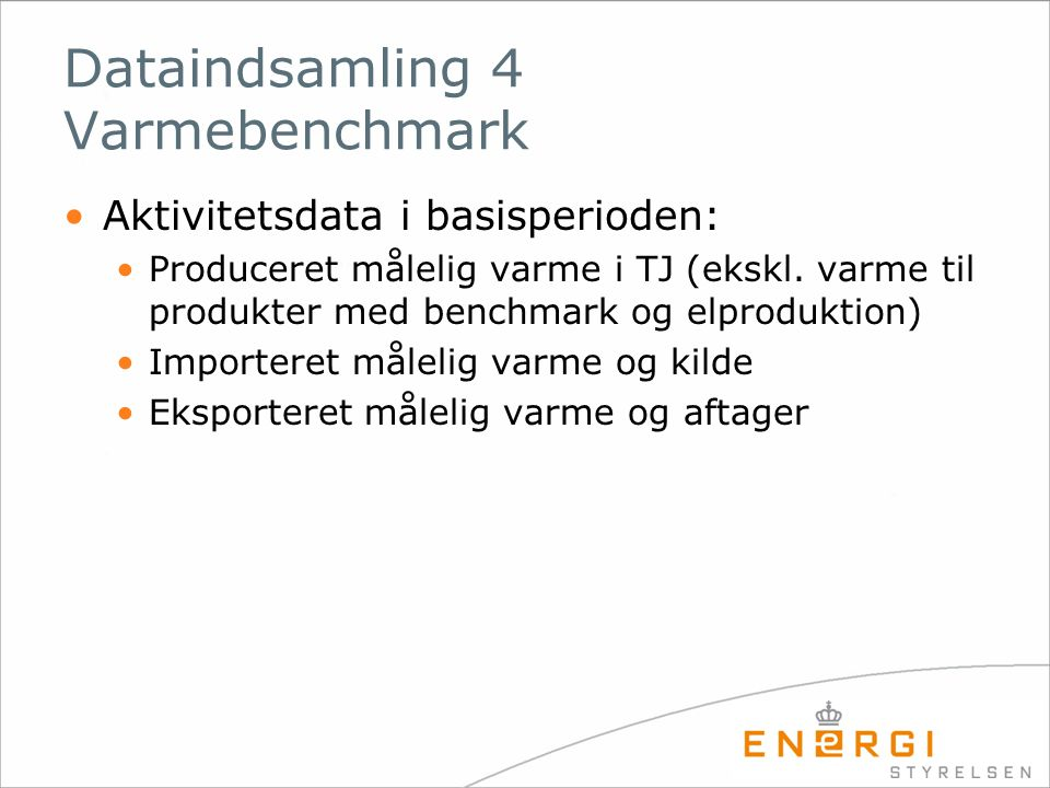 Dataindsamling 4 Varmebenchmark