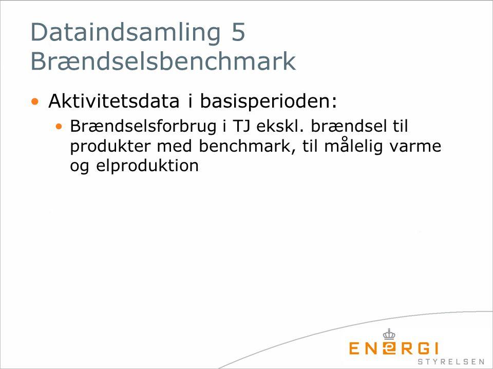 Dataindsamling 5 Brændselsbenchmark
