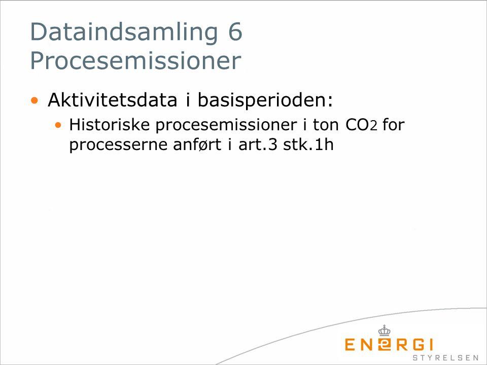 Dataindsamling 6 Procesemissioner