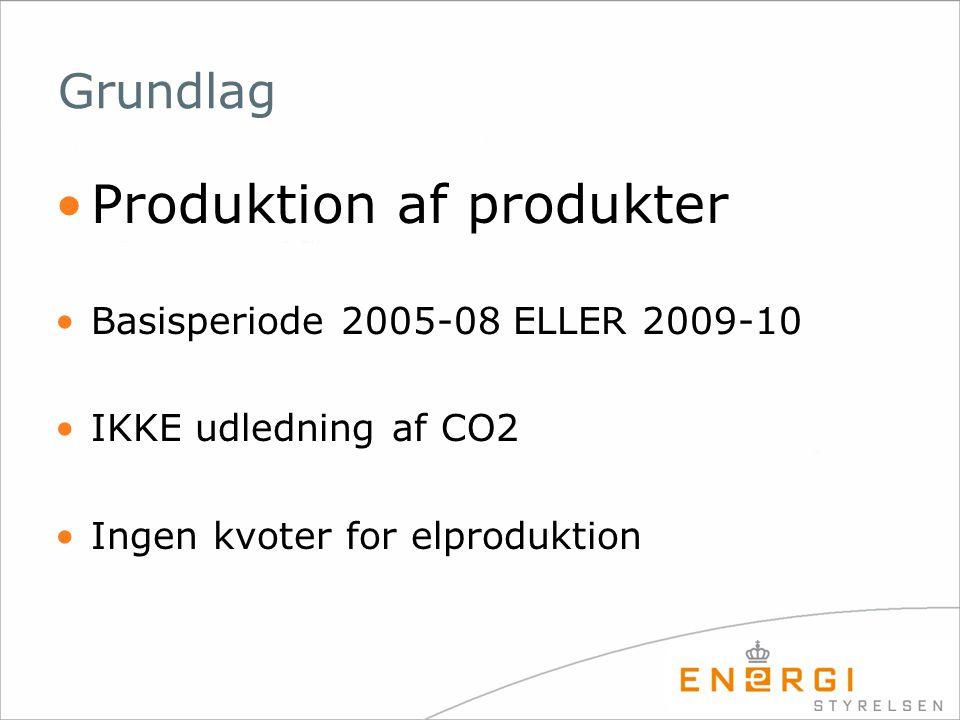 Produktion af produkter