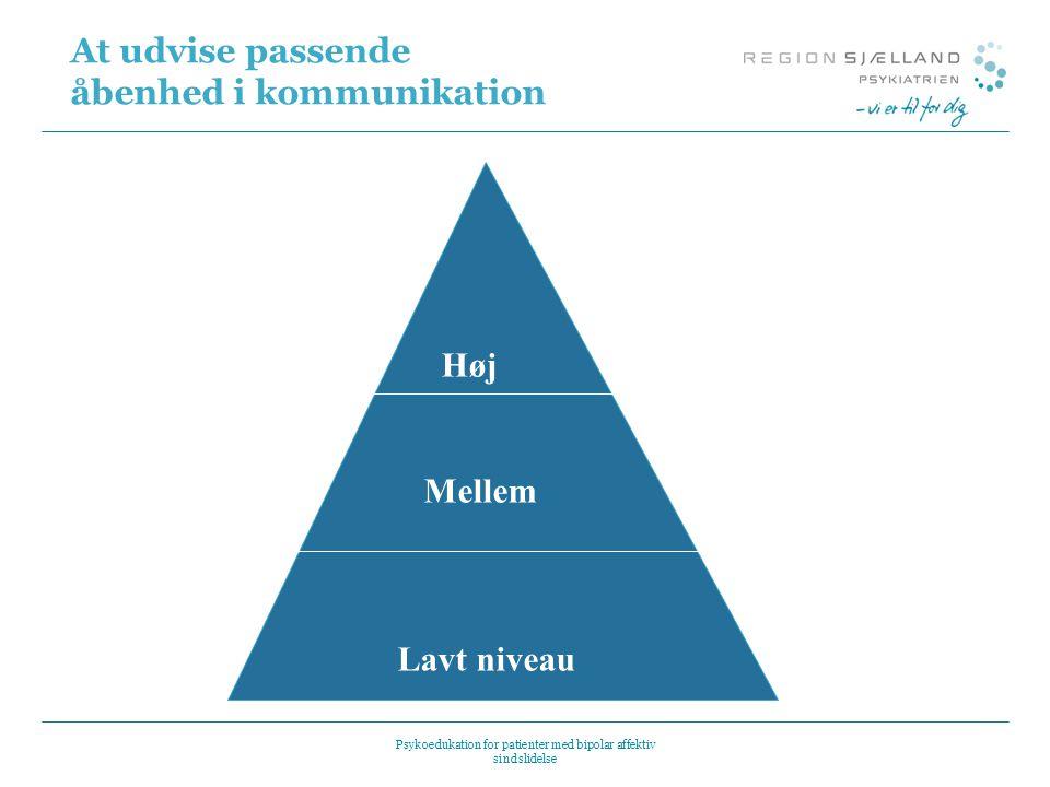 At udvise passende åbenhed i kommunikation
