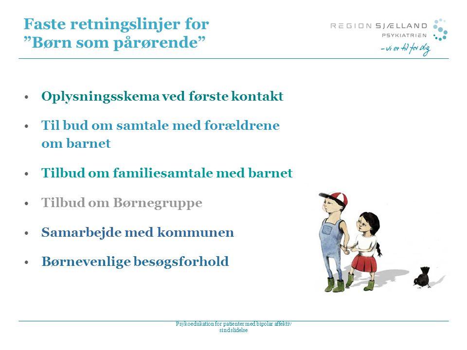 Faste retningslinjer for Børn som pårørende