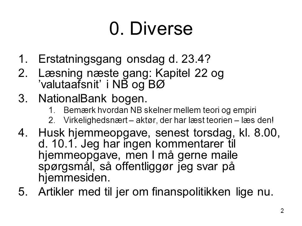 0. Diverse Erstatningsgang onsdag d. 23.4