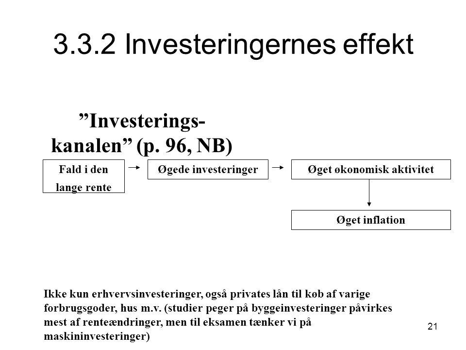 3.3.2 Investeringernes effekt