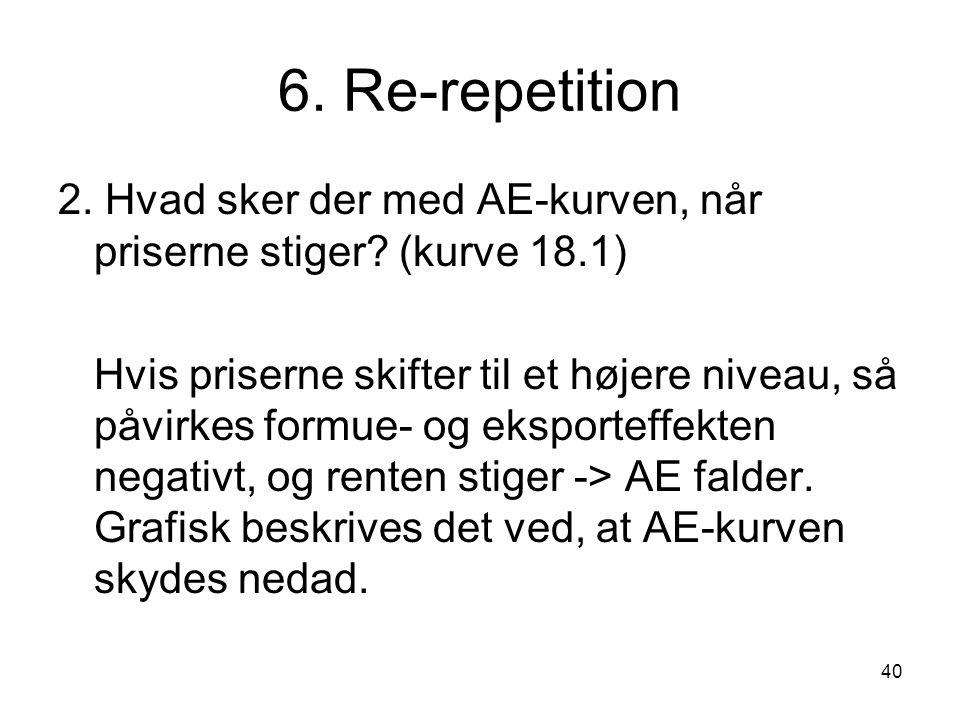 6. Re-repetition 2. Hvad sker der med AE-kurven, når priserne stiger (kurve 18.1)