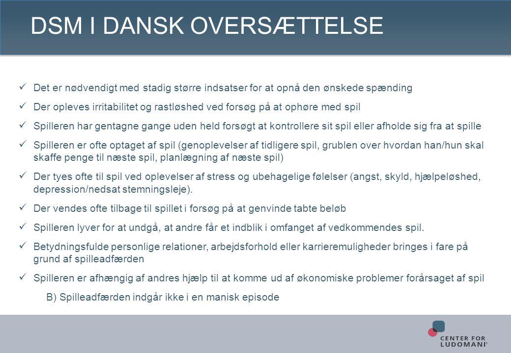 DSM i Dansk oversættelse