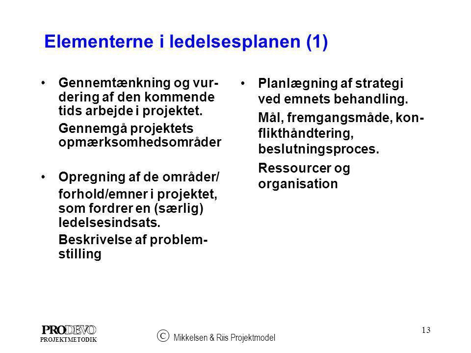 Elementerne i ledelsesplanen (1)