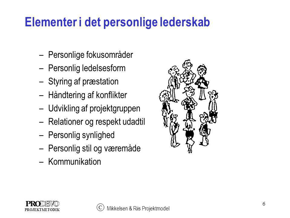 Elementer i det personlige lederskab