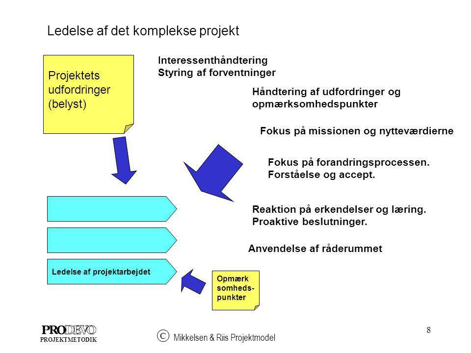 Ledelse af det komplekse projekt