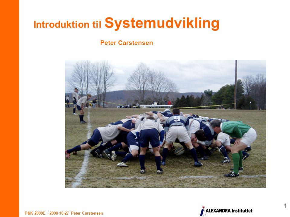 Introduktion til Systemudvikling