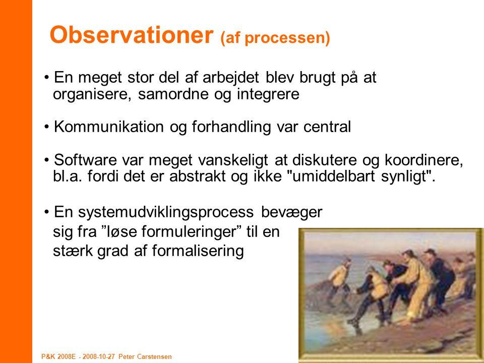 Observationer (af processen)