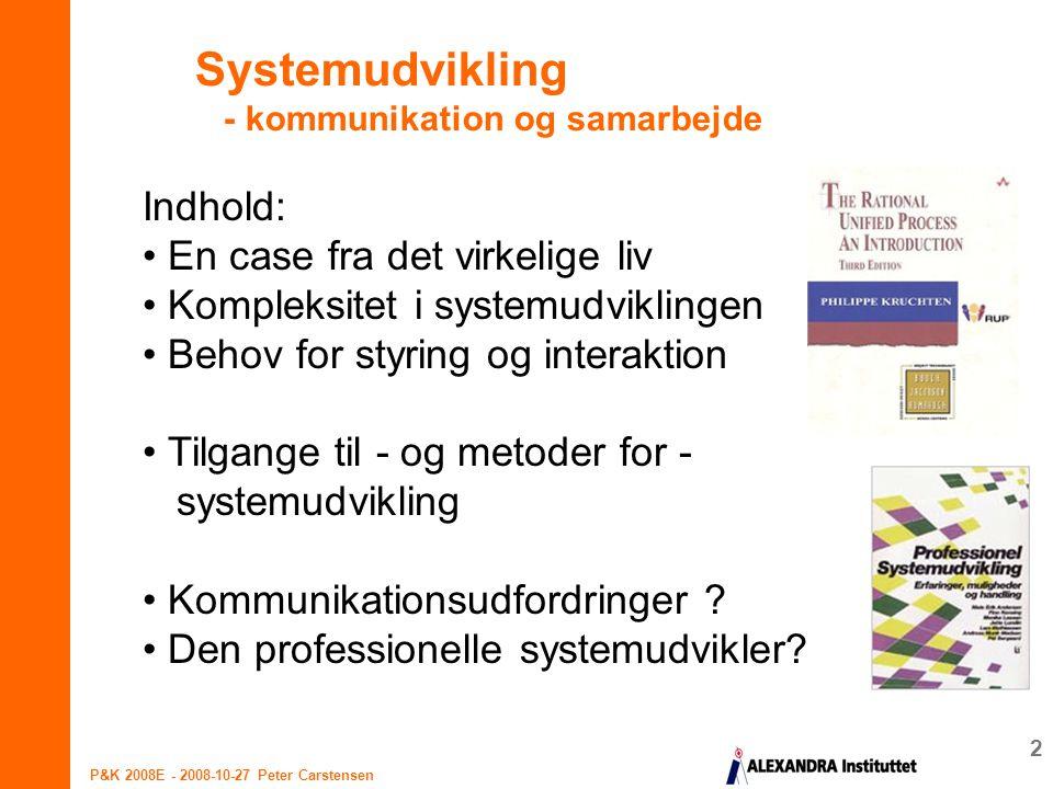 Systemudvikling - kommunikation og samarbejde