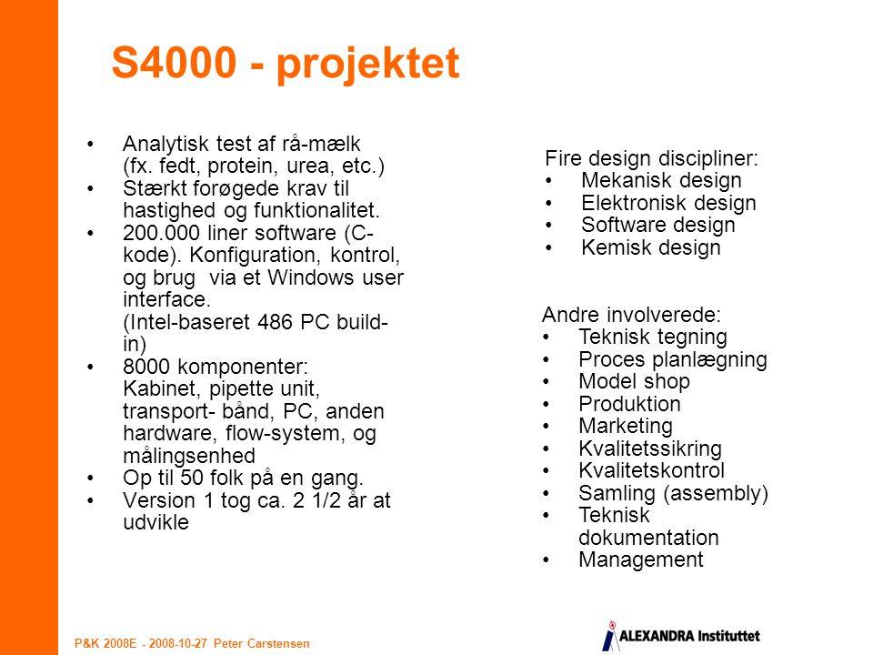 S4000 - projektet Analytisk test af rå-mælk