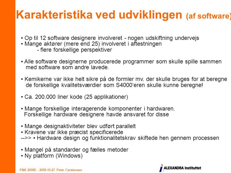 Karakteristika ved udviklingen (af software)