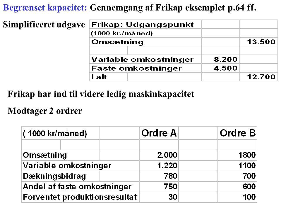 Begrænset kapacitet: Gennemgang af Frikap eksemplet p.64 ff.
