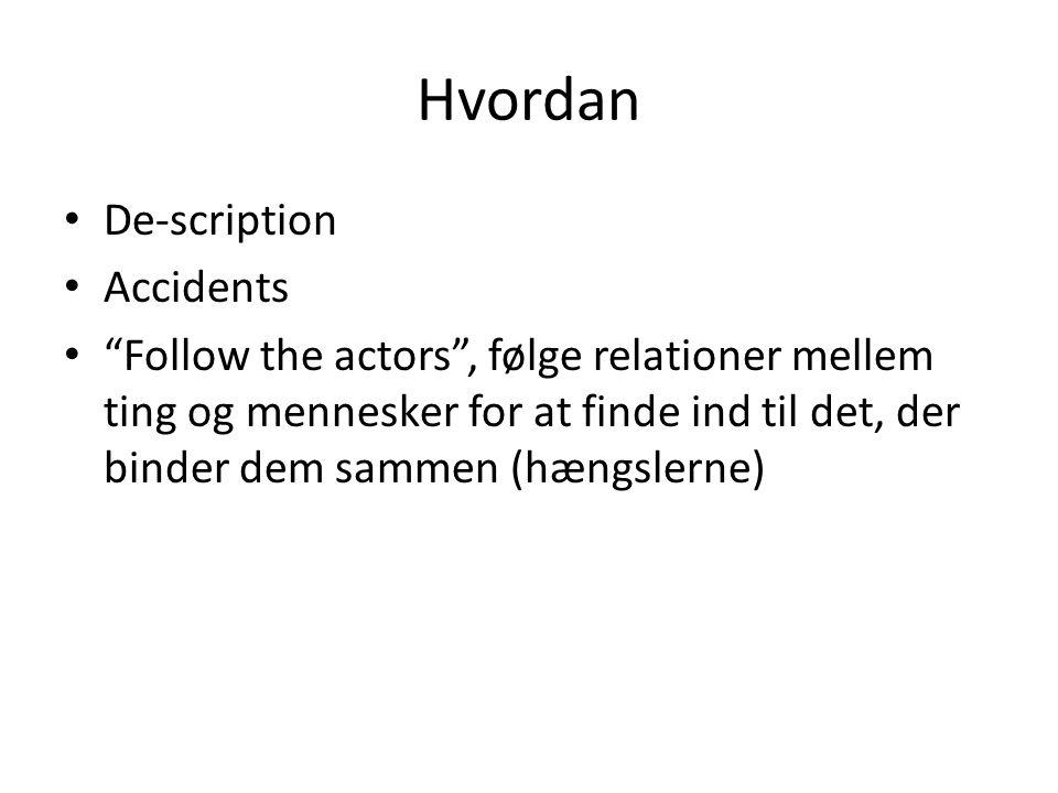 Hvordan De-scription Accidents