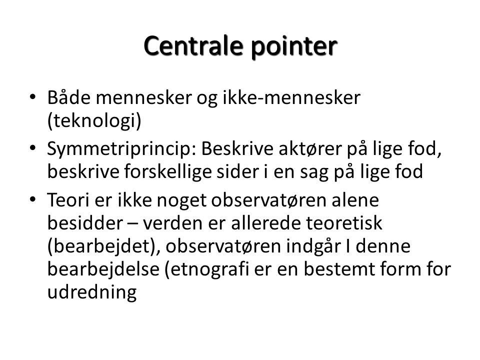 Centrale pointer Både mennesker og ikke-mennesker (teknologi)