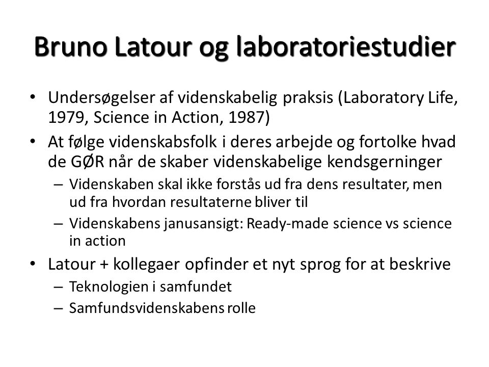 Bruno Latour og laboratoriestudier