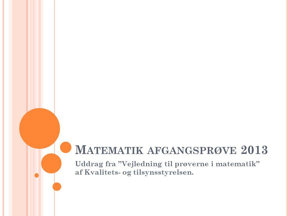 Matematik afgangsprøve 2013