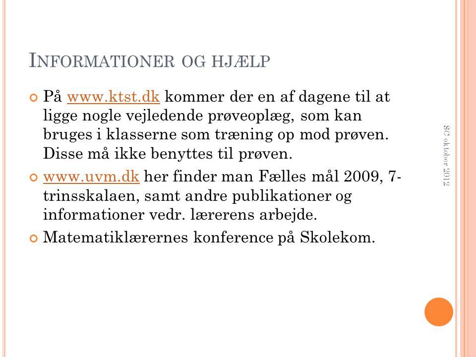 Informationer og hjælp