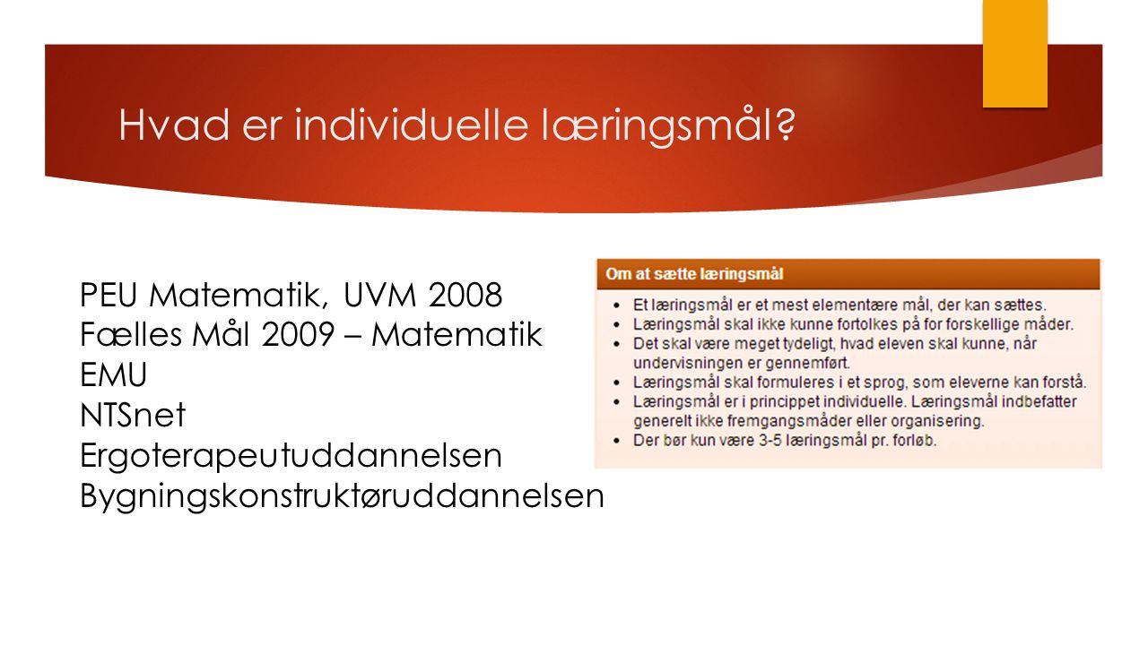 Hvad er individuelle læringsmål