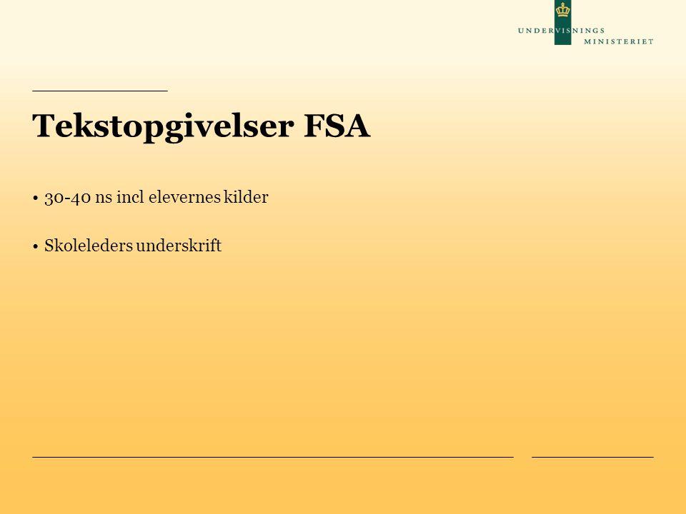 Tekstopgivelser FSA 30-40 ns incl elevernes kilder