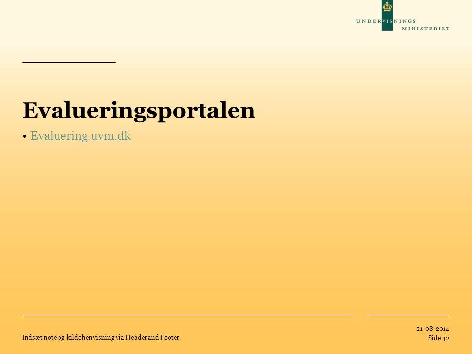 Evalueringsportalen Evaluering.uvm.dk 05-04-2017