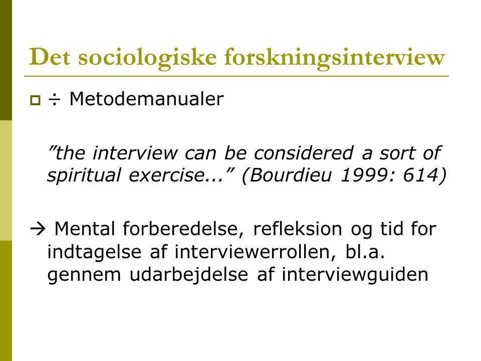 Det sociologiske forskningsinterview